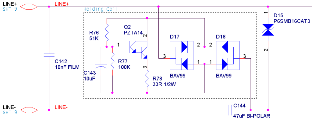 Data Access Arrangement (DAA); a high-impedance shunt regulator.