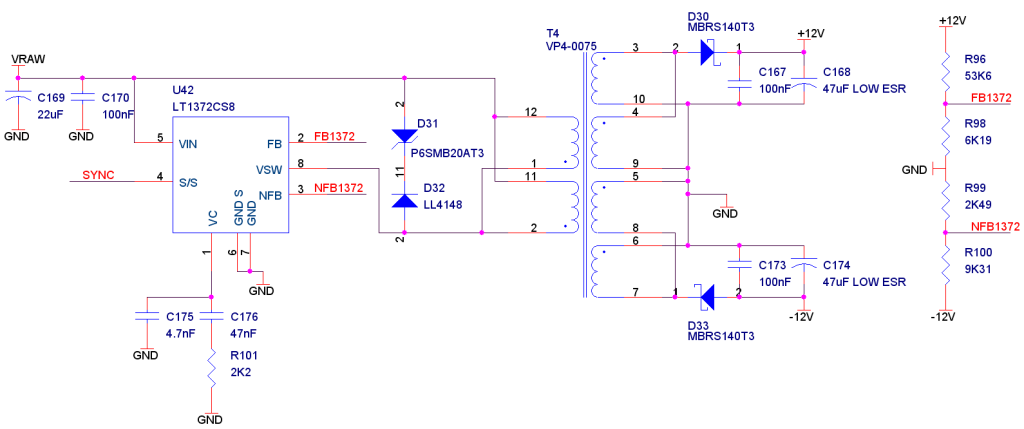 Dual output switching regulator